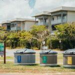 Sorting bins equipped with an IoT sensor in Moka
